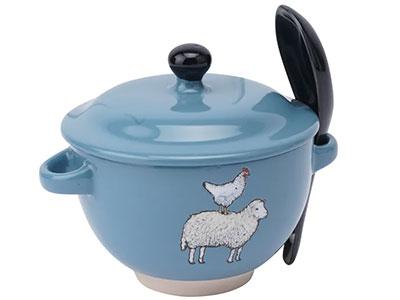 Činija za supu - The Little Farmhouse, Sheep and Hen
