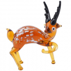 Figura - Fox and Fern, Glass Deer