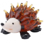 Figura - Fox and Fern, Glass Hedgehog
