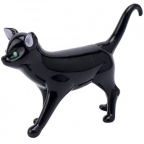 Figura - Glass Black Cat