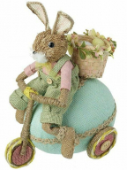 Uskršnja figura - Rabbit on blue egg scotter