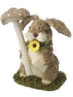 Uskršnja figura - Standing rabbit with mushroom