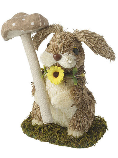 Uskršnja figura - Standing rabbit with mushroom