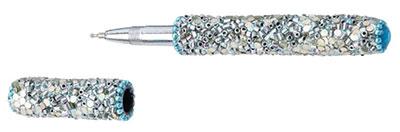 Hemijska olovka - Turquoise Shellac Pen In Organza Bag