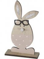 Uskršnja figura - Pink rabbit with glitter ears