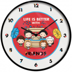 Zidni sat - Friends, Life is better with Frineds, Chibi