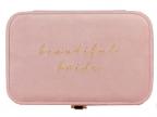 Kutija za nakit - Amore, Pink Velvet Beautiful Bride