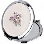 Ogledalce - Sophia, Silverplate, Pink Butterfly