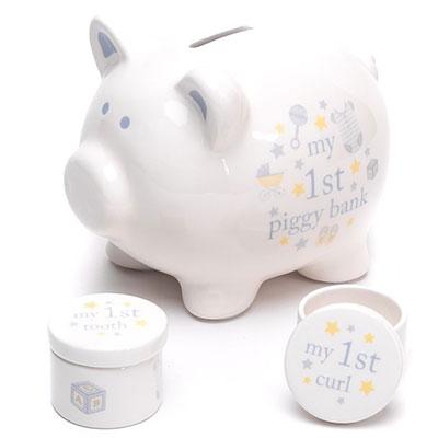Set kasica i kutijice - Hello Baby, Piggy, Baby Boy