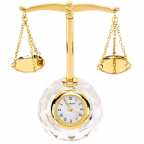 Stoni sat - Mini Clock, Scales of Justice