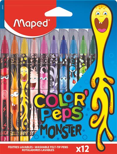 Flomasteri - Maped, Monster, 1/12