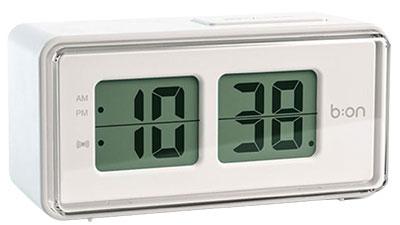 Sat sa alarmom - Flip LCD, White
