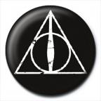 Bedž - HP, Deathly Hallows Logo