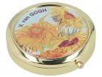 Kutija za lekove - Van Gogh, Sunflowers, Round