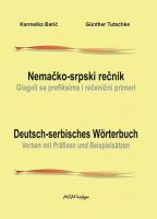 Nemačko-srpski rečnik: Glagoli sa prefiksima i rečenični primeri