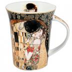 Šolja - Klimt, The Kiss, Black
