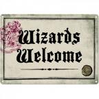 Zidna dekoracija - HP, Wizards Welcome, metal