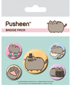 Bedž set 5 - Pusheen, Fancy
