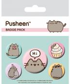 Bedž set 5 - Pusheen, Says Hi