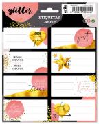 Nalepnice set 8 - Glitter, Gold Dreams