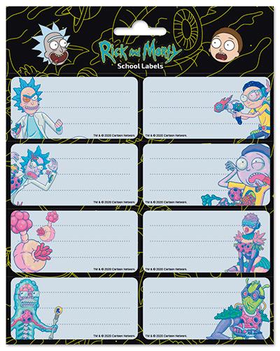 Nalepnice set 8 - Rick and Morty, Virus