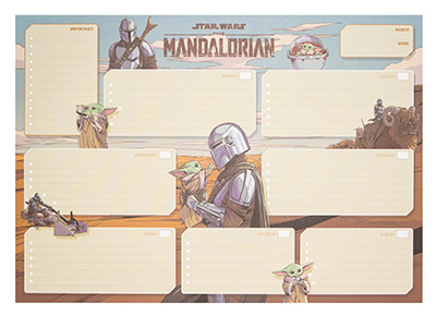 Stoni planer A3 - SW, The Mandalorian, Week To View