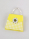 blokcic - handbag notes - yellow gingham