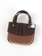 blokcic - handbag notes - brown argile