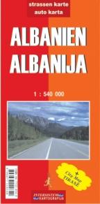 Albanija - auto karta