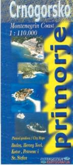 Crnogorsko Primorje Turisticka Karta Grupa Autora Delfi