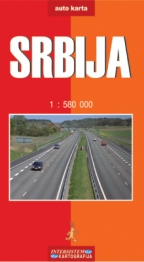 Srbija - auto karta