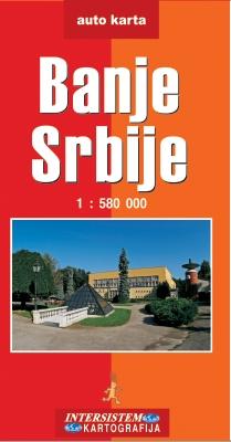 Banje Srbije Auto Karta Grupa Autora Delfi Knjizare Sve