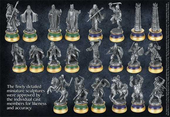 laguna the lord of the rings sah collectors chess 1-5